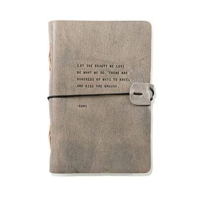 Rumi Grey Leather Journal
