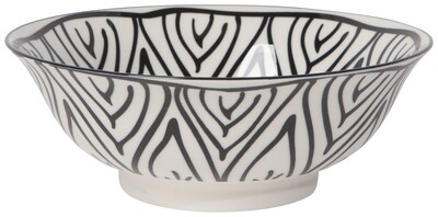 Black Bloom 8in Bowl