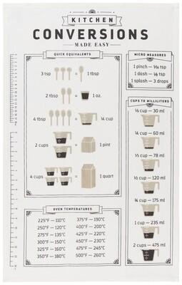 Kitchen Conversions Print Tea Towel