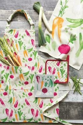 Veggies Print Tea Towel