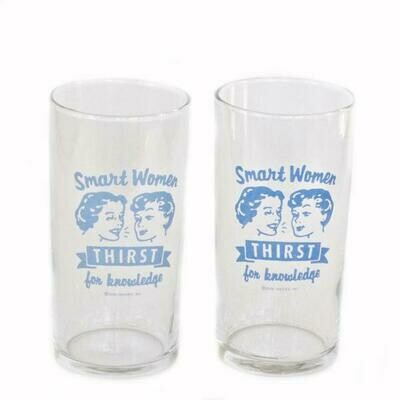Smart Women Thirst for Knowledge Juice Glass