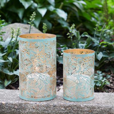 Serrv /BOX/ Lrg Green Botanical Lantern - 32522