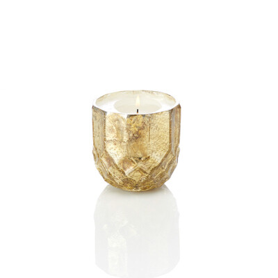 SALE: Serrv /BOX/ Gold Holiday Glass Candle Holder - 32502 - org. $14