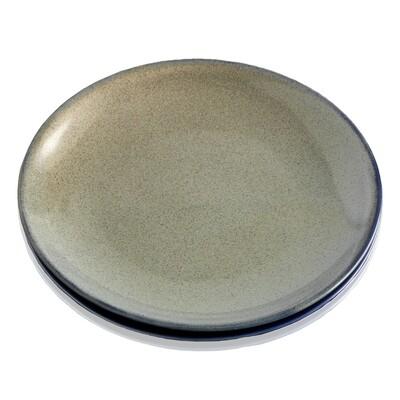 Serrv Farmhouse Dessert Plates - Speckled Sage - 92835
