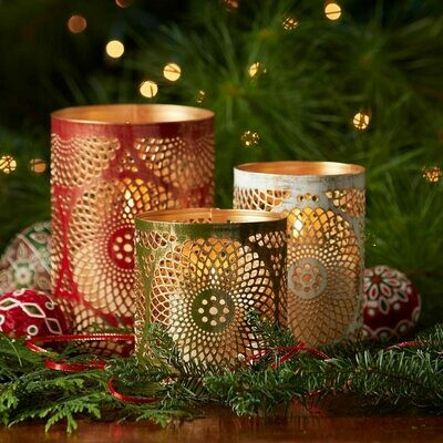 Serrv Mandala Holiday Lantern Set - 32321