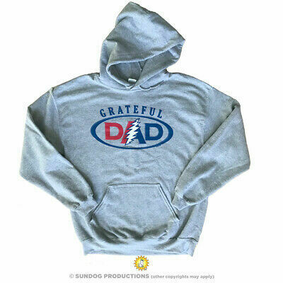 Grateful Dad Grey L Hoodie - Sundog