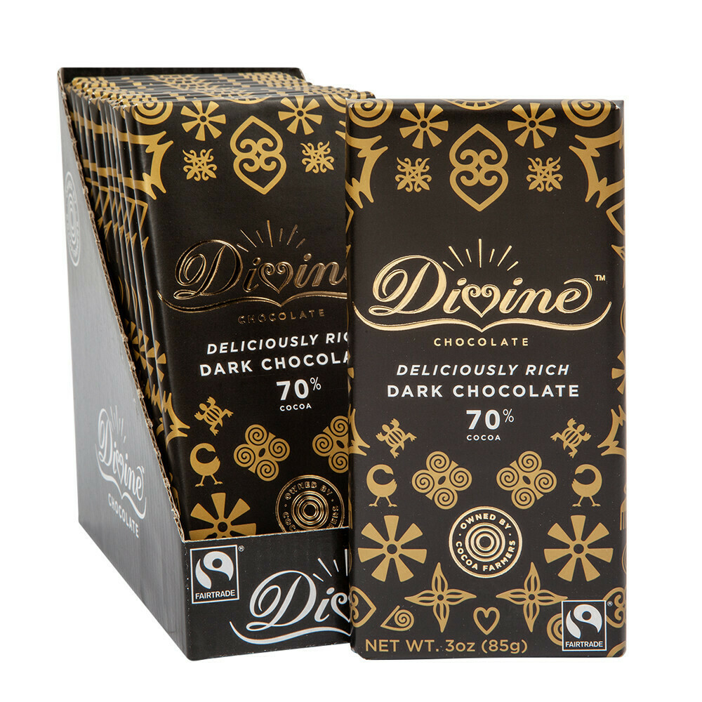 Divine 70% Dark Chocolate - 3oz
