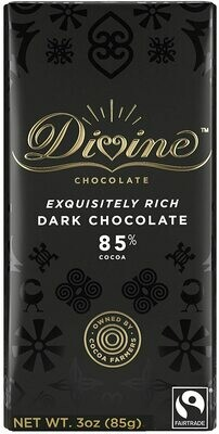 Divine 85% Dark Chocolate - 3oz