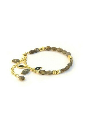 Fair Anita Labradorite Leaves Bracelet - 1293