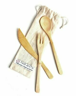 FA Sustainable Bamboo Utensil Set