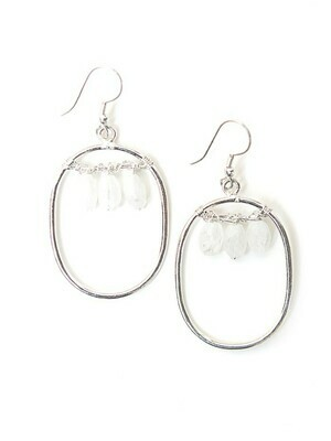 Fair Anita Blazen Moonstone Silver Plated Earrings