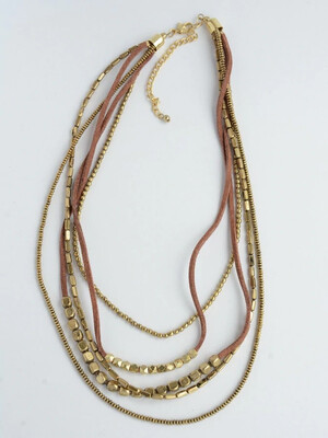 Fair Anita Brass Peace Warrior Necklace - 1368
