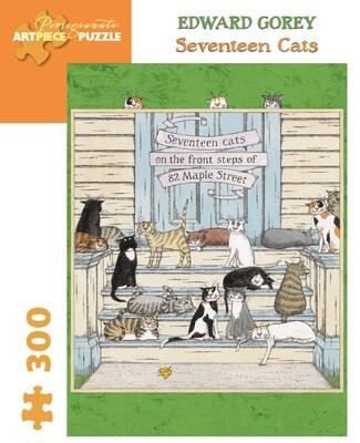 Edward Gorey Seventeen Cats 300pc Puzzle