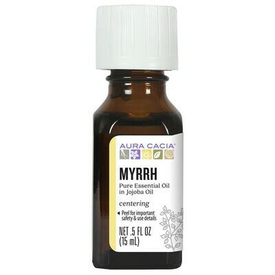 Essential Oil Myrrh in Jojoba .5oz