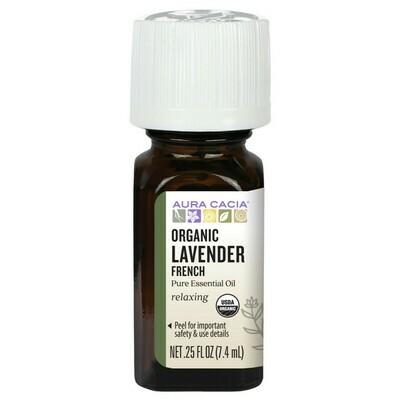Essential Oil Organic Lavender French .25oz