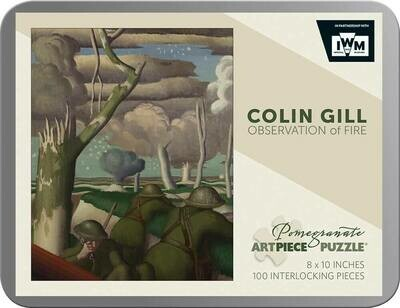 Colin Gill Observation of Fire 100pc Tin Puzzle