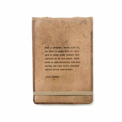 Jack London 7x10 Leather Journal - Sugarboo