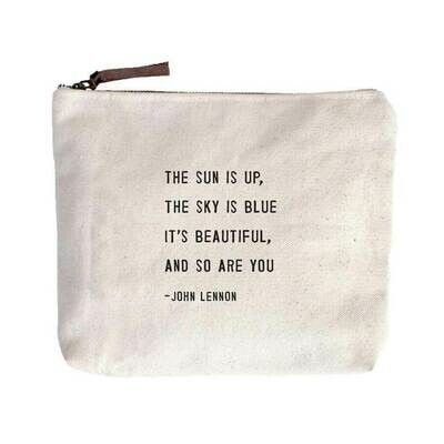 The Sun Is Up Canvas Pouch - Sugarboo
