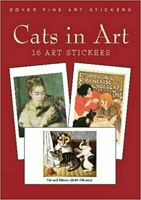 CC Cats in Art Stickers