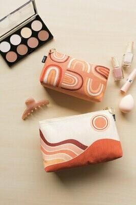 Solstice Small Linen Cosmetic Bag