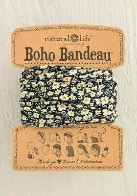 248 Black Cream Floral Boho Bandeau