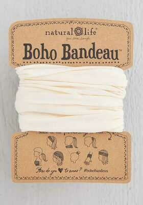 187 Solid Cream Boho Bandeau