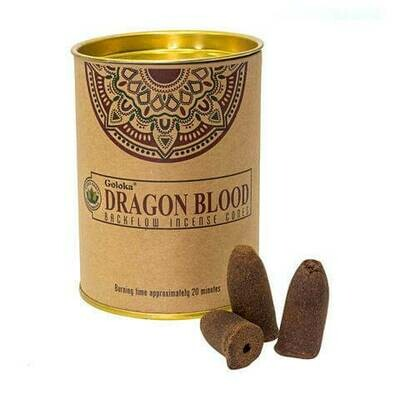 Dragons Blood Incense Cones Can - Goloka Backflow