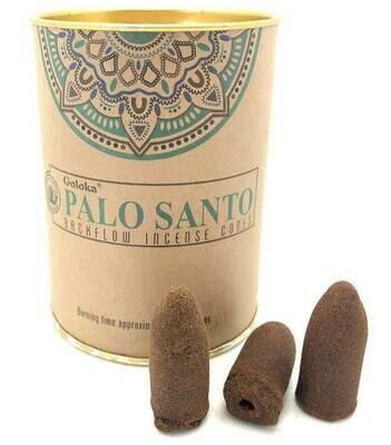 Palo Santo Incense Cones Can - Goloka Backflow