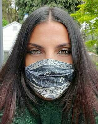 English Tea Pleated Civvy Face Mask - Pandemonium