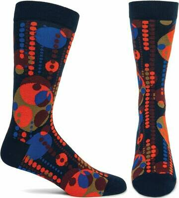 FLW Midway Garden Mural - Red Ozone Socks