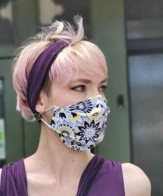 Yellow Flowers Boxed Civvy Face Mask - Pandemonium