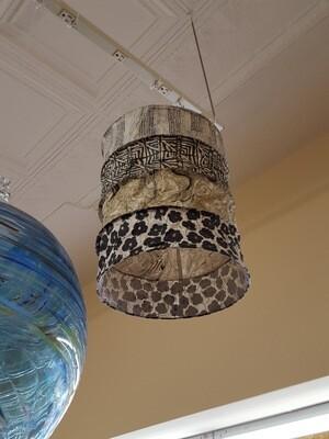 Black & Cream Lokta Paper Lantern