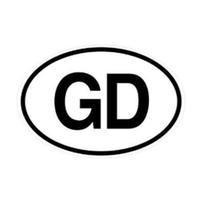 """Grateful Dead """"GD"""" Sticker"""