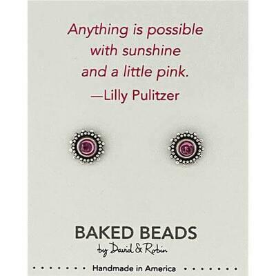 E1149L Sunshine Pulitzer Quotestone Post BB Earrings