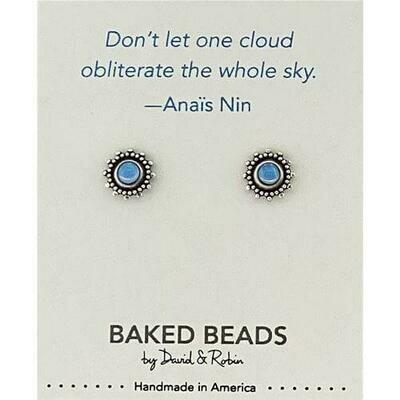 E1149F Cloud Nin Quotestone Post BB Earrings