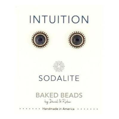 E1102C Intuition Sodalite Powerstone Post BB Earrings