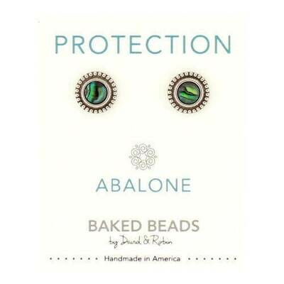 E1102H Protection Abalone Powerstone Post BB Earrings