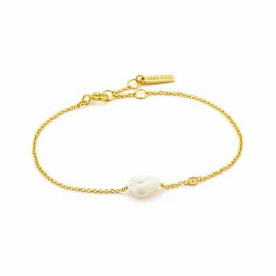 Ania Haie Pearl of Wisdom: Pearl Bracelet - Gold