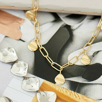 Ania Haie Crush Drop Discs Necklace - Gold