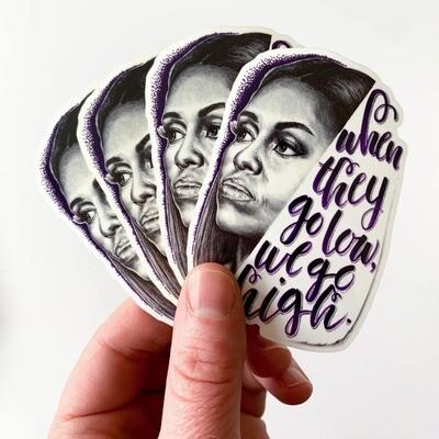 Michelle Obama Sticker by Artist Mandi Antonucci