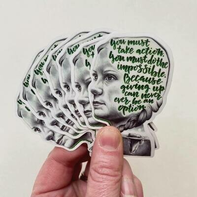 Greta Thunberg Sticker by Artist Mandi Antonucci