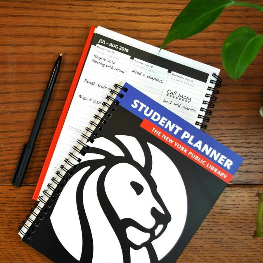 SALE: The New York Public Library Student Planner Aug-Aug 2020-2021 - org. $12.99