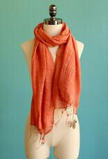Marquet Saffron Silk/Cotton Binh Minh Shawl