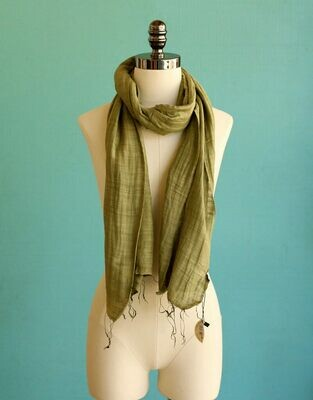 Marquet Olive Silk/Cotton Binh Minh Shawl