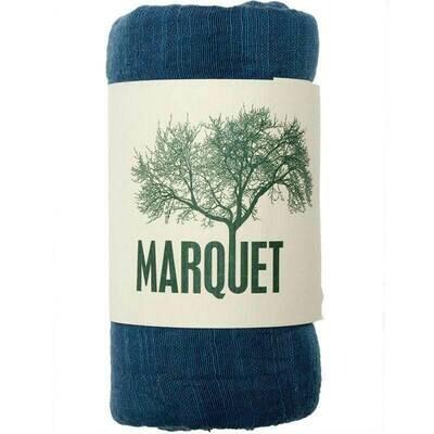 Marquet Blue Silk/Cotton Binh Minh Shawl