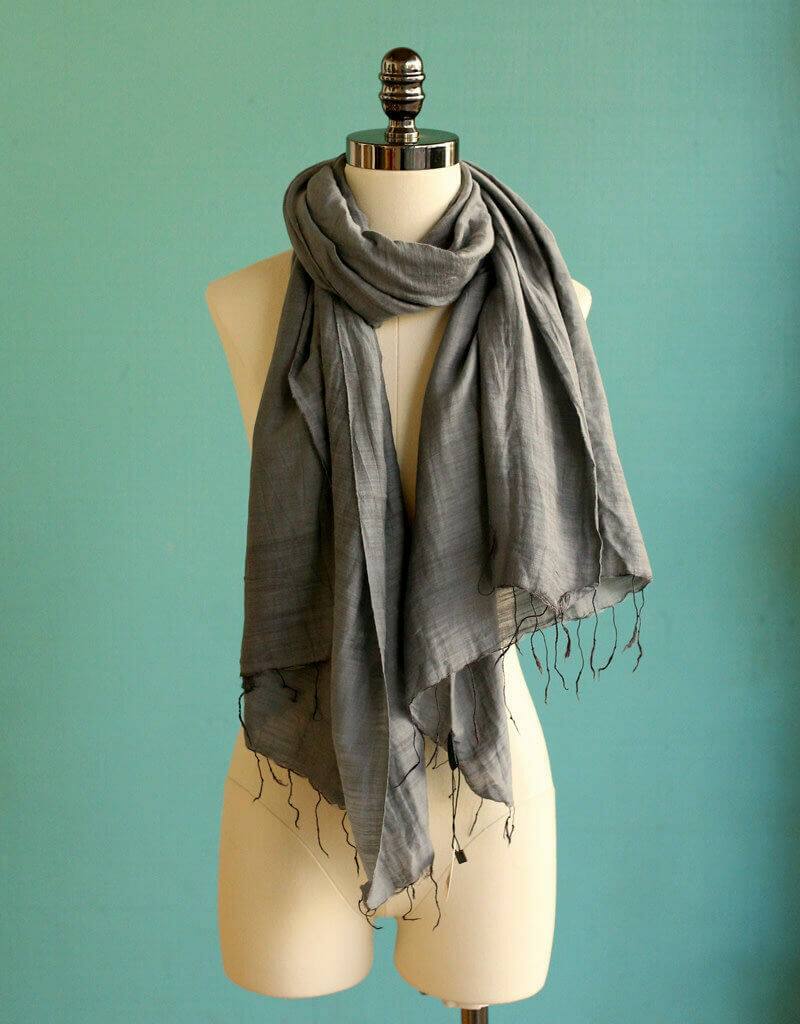Marquet Smoke Silk/Cotton Binh Minh Shawl