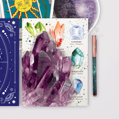 Crystals and Gems Connecting Notebook Set