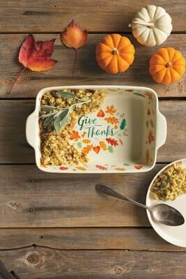SALE: /BOX/ Autumn Harvest Baking Dish - org. $35
