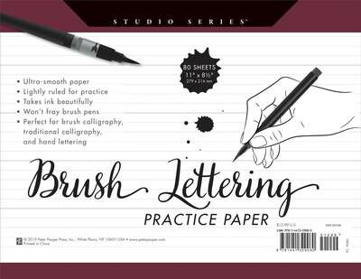 PPP Studio Series Brush Lettering Practice Paper