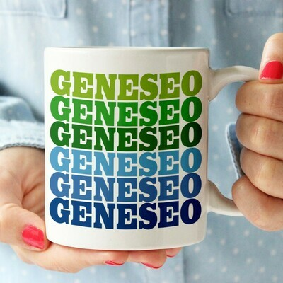 RSP Blue/Green Geneseo Supergraphic Mug